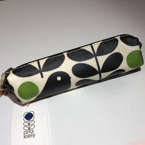 NWT Orla Kiely Early Bird Pencil Case in Granite